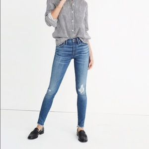 "Madewell 9"" High Rise Skinny in Allegra Wash"